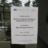 """obrázek k Mgr. Michaela Čaňková - """"Moderní praktické metody pro angličtináře na 2 st. ZŠ"""""""