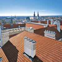 obrázek k Jedinečný příklad architektonického zpracování komínů na litomyšlském zámku a pohled na město