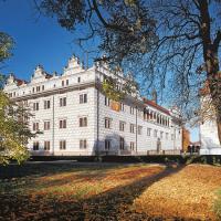 obrázek k Pohled na litomyšlský zámek a zámecký pivovar z tzv. Francouzské zahrady