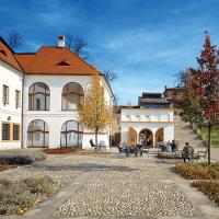 obrázek k Klášterní zahrady uzavírají jižní část bývalé piaristické koleje