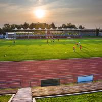 obrázek k Městský stadion Černá hora s nově zastřešenou tribunou a zimním stadionem