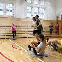 Tělocvična na litomyšlském gymnáziu